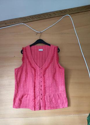Французская ажурная блуза прошва с кружевом