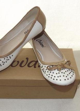 Туфли covani  балетки кожа внутри 36,37 размер
