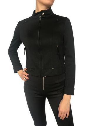 Итальянская чёрная весенняя куртка/пиджак lussile. размер м