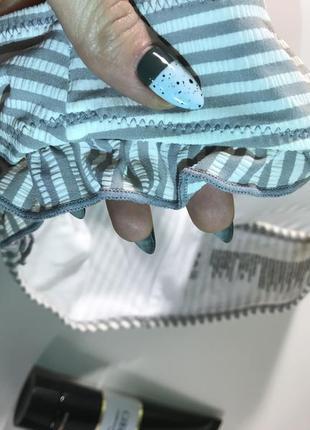 Полосатые плавки новые /низ от купальника размер м3 фото