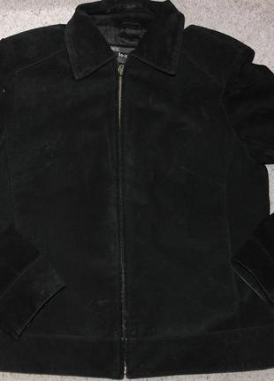 Ws leather куртка натуральный замш