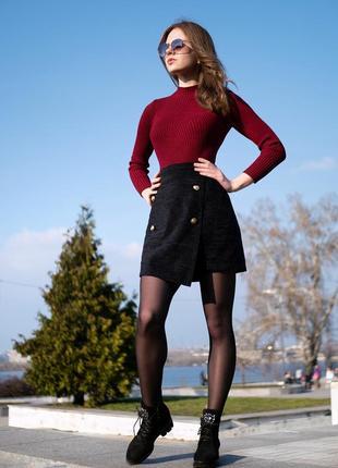 Трендовая юбка на запах