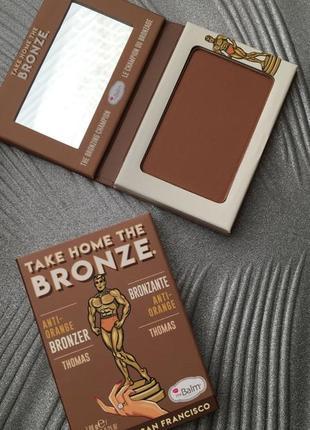 Бронзатор для лица thebalm take home the bronze anti-orange bronzer