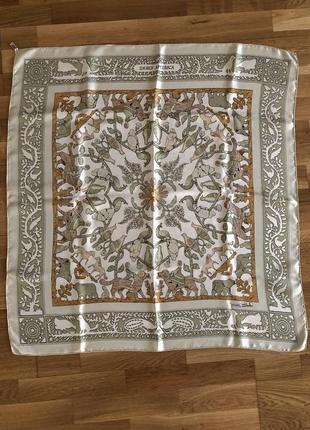 "Платок hermes vintage scarf ""early america""1"