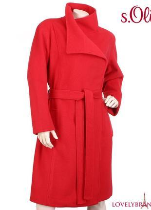S.oliver 65% шерсть пальто халат на запах 170€ шерстяное классическое женское распродажа4 фото