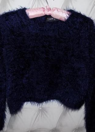 Укороченный свитер, кроп топ