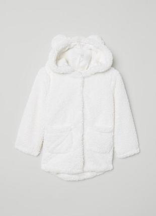 Плюшевая курточка h&m на 4-5 лет