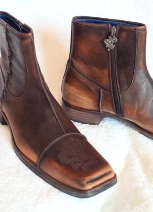 Сапоги мужские кожаные чобітки чоловічі mark nason