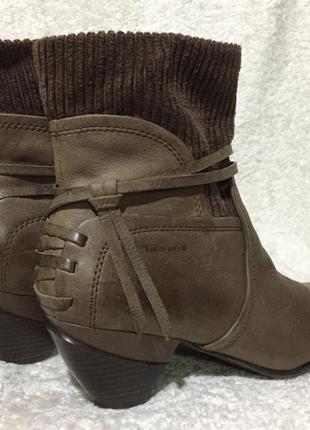 Кожаные тёплые ботинки, полусапожки 39.5