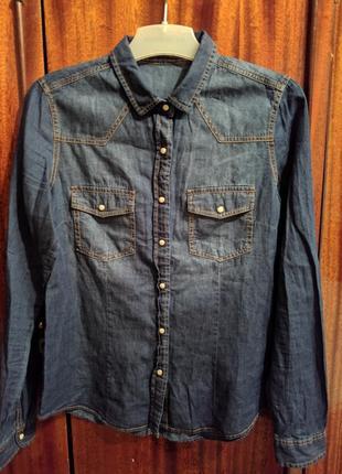Продам женскую джинсовую рубашку