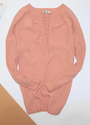 Шикарная блуза со шнуровкой свободного кроя