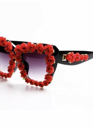 Дизайнерские уникальные роскошные солнцезащитные очки с розами хит 2019