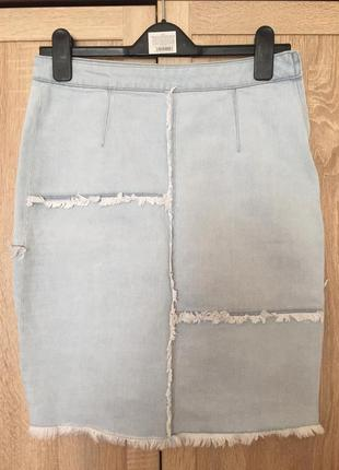 Класна з торочками юбка з тонкого та еластичного катончика costes denim s-m