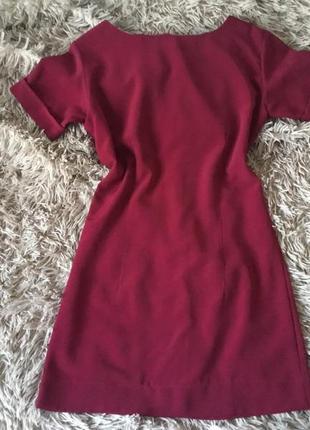 Стильне бордове платтячко