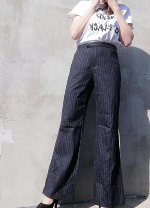 Шерстяные клешные штаны брюки клеш marks spencer