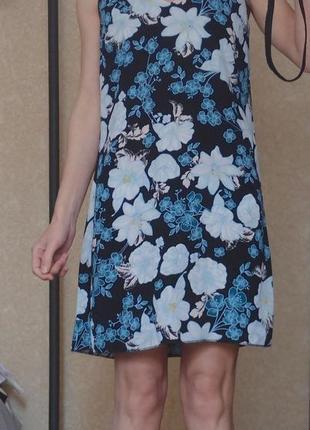 Платье а-силуэта шифон с подкладкой