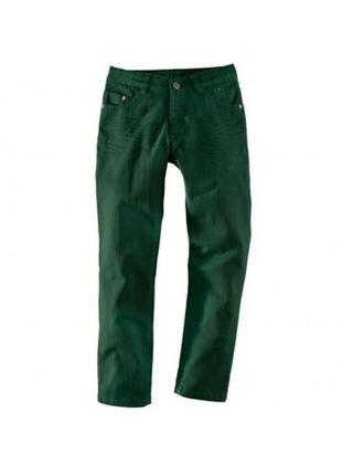 Джинсы, на мальчика, брюки, хаки,подростковые, 134