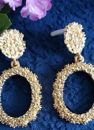 Серьги в стиле зара zara сережки золото винтаж