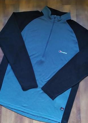 Очень крутая футболка с длинным рукавом berghaus extrem polartec