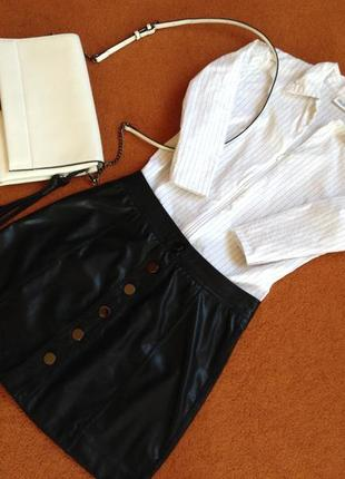 Блуза-рубашка на молнии/ рубашка в полоску