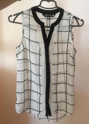 Блузка в клетку шифон