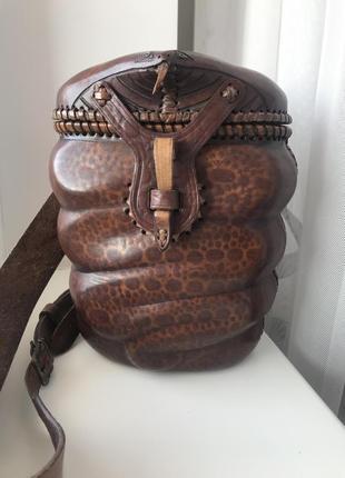 Эксклюзивный рюкзак ручной работы с натуральной кожи