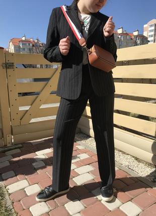 Крутой костюм оверсайз  в полоску тренд 2019