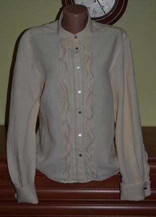 Рубашка max mara weekend с перламутровыми запонками