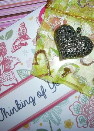 Подвеска кулон большое сердце сердечко