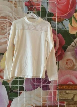 Трикотажная блузка для девочек на рост 128,140,152,164