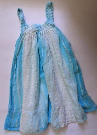 Лёгкое, нежное и красивое платьеце-сарафан на 3 года