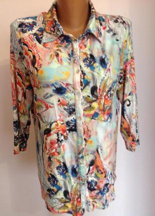 Вискозная блуза - рубашка. /xl/ brend roberto sarto