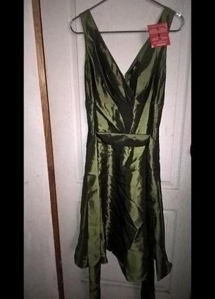 Оливковое новое (с биркой) супер-платье на выпускной и не только