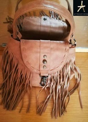 Стильная сумка  с бахромой  ирландского бренда atmosphere, оригинал, пр-во испания
