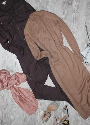 Длинное платье в пол  телесного цвета (в рубчик,бежевое)