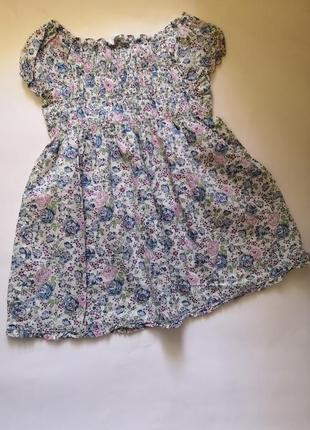 Лёгкое платье jacadi paris на 2 года, рост 88 см