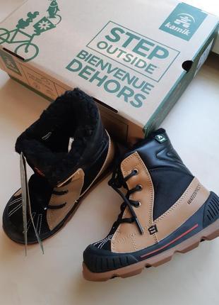Фирменные зимние термо-ботинки kamik mason до -32с  р-р29(17.5см)оригинал8 фото