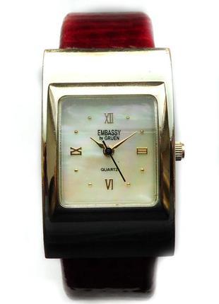 Embassy by gruen стильные часы-браслет из сша