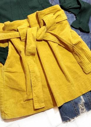 """Бомбическая юбка """"конфетка"""" с актуальными складками и поясом на талии wendy trendy"""