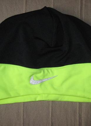 Nike dry-fit спортивная эластичная шапка