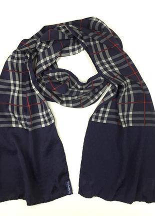 Оригинальный винтажный шелковый шарф burberrys vintage silk scarf