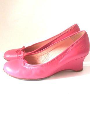 Качество! кожа! красивые туфли на танкетке, р.38 код t3810
