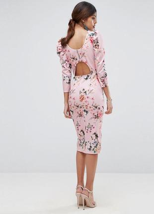 Весеннее платье футляр в прекрасных цветах  asos