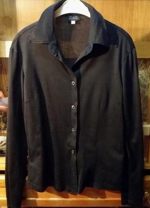 Стильная трикотажная рубашка,блуза dolce & gabbana,оригинал