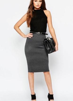 Новая трикотажная юбка цвета графит, разные размеры и цвета