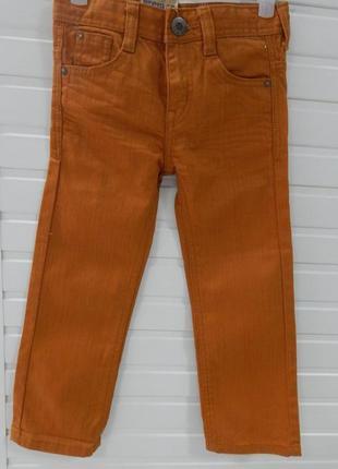 Детские джинсы с регулируемой талией на 5лет kiabi рыжие