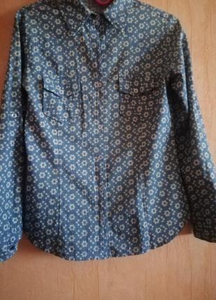 Скидки! рубашка под джинс цветочный принт4