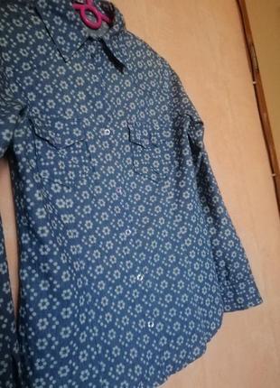 Скидки! рубашка под джинс цветочный принт3