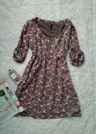 Шикарне плаття ніжного квіткового принту