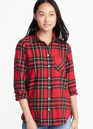 5064dedcad1 Женская фланелевая рубашка в клетку old navy размер xs s оригинал из сша